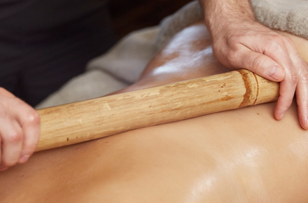 Wood massage: back 25'